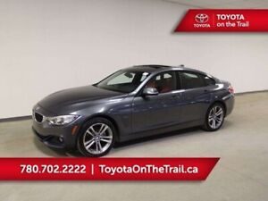 2016 BMW 4 Series 428iX GRAN COUPE; AWD, RED LEATHER, SUNROOF, N