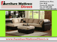 Sectional Sofa with Chaise and Storage ottoman