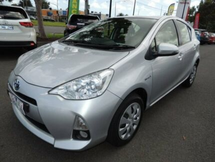 2014 Toyota Prius c NHP10R E-CVT Silver 1 Speed Constant Variable Hatchback Hybrid Oakleigh Monash Area Preview