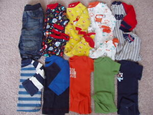 Baby Boy 10 Piece Clothing Lot, Size 3-6 Months