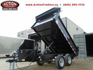 10' QUALITY STEEL DUMP TRAILER - DECK OVER - 3.5 TON SERIES!