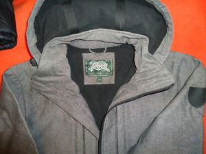 Roots Hooded Jacket. Spring. Fall. Grey. New OBO
