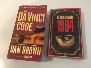 Davinci Code by Dan Brown, 1984 by George Orwell