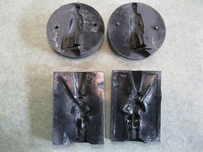 Antique Casting mold Lead, Tin Toys, figures Approx. 2 Inches, Round type