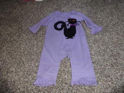 BOUTIQUE MUDPIE BABY 0-6 PURPLE BLACK CAT HALLOWEEN OUTFIT - Black Cat Halloween Outfit
