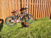 "Star Wars Darth Maul 16"" bike & helmet, good condition"