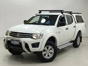 2013 Mitsubishi Triton MN MY13 GLX Double Cab White 4 Speed Sports Automatic Utility Edgewater Joondalup Area Preview