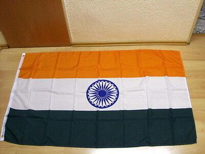 Fahnen Flagge Indien Neu - 90 x 150 cm