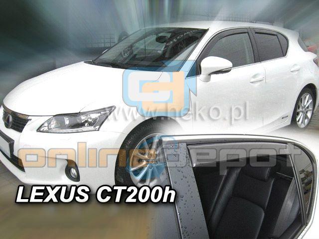 Wind Deflectors LEXUS CT 200H 5-doors 2011-onwards 4-pc HEKO Tinted