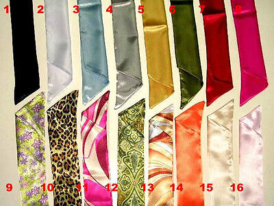 WN125- SOLID COLORS SEAMLESS SATIN DESIGNER INSPIRED SCARVES FOR - Solid Colors