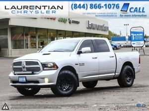 2016 Ram 1500 Sport- 2YEAR EXT WARRANTY!! LEATHER!! BLUETOOTH!!