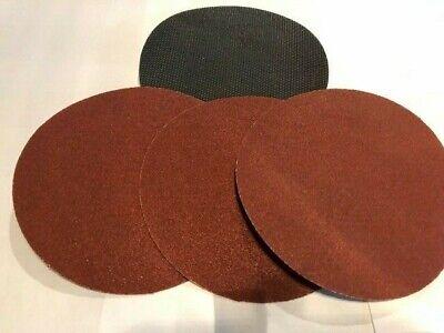300mm Disc Sander Self Adhesive Hook Loop Adaptor Pad 6 Sanding Discs