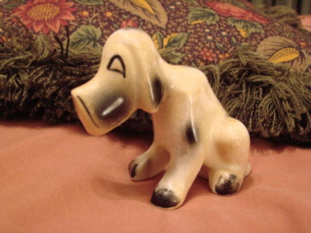 Vintage Hound Dog Figurine Shaker - JAPAN