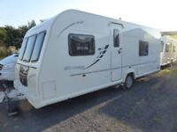Bailey Olympus 534, 17ft 4 berth fixed bed