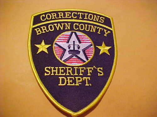 BROWN COUNTY WISCONSIN CORRECTIONS POLICE PATCH SHOULDER SIZE UNUSED