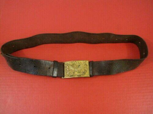 Indian War US Army Pattern 1874 Leather Waist Belt w/Eagle Brass Buckle Plate