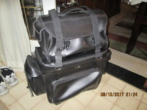 large motorcycle travel bag set used once.