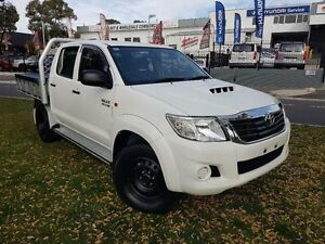 2013 Toyota Hilux KUN26R MY12 SR (4x4) White 4 Speed Automatic Dual Cab Pick-up Belconnen Belconnen Area Preview