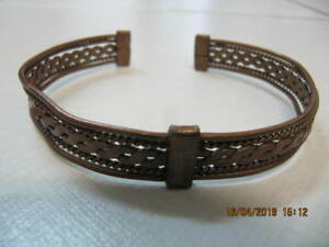 ClassicHand Made 2pc LotOf African DesignedCopper Braclets 1990s