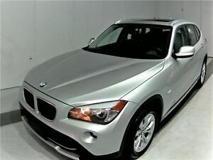 2012 BMW X1 PANO ROOF 77KM SILVER ON BLACK