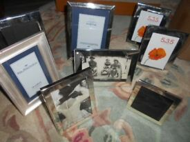 Picture Frames Silver Coloured Metal - Assorted Bundle