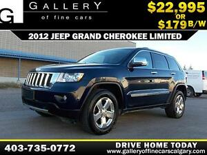 2012 Jeep Grand Cherokee Limited 4WD $179 bi-weekly APPLY NOW