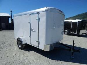 NEW 2017 TNT 6x10 ROUND TOP ENCLOSED CARGO TRAILER REAR RAMP