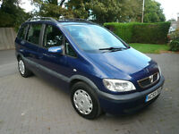 Vauxhall Zafira Design 2.0 TDCI (53) 2003 Blue 123,000 Well Looked After 11 Months MOT