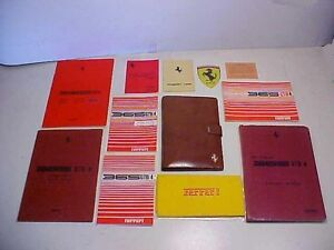 Ferrari-365-Leather-Pouch-Owners-Manual-Warranty-Card-Parts-Book-GTB-4-Concours