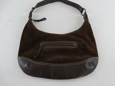 Seude Leather - Eddie Bauer Women's Seude & Leather Rugged Satchel Bag- EUC