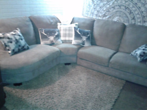 Free delivery! Modern grey sectional