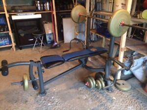 WEIGHT BENCH/BANC DE MUSCULATION - GREAT CONDITION!