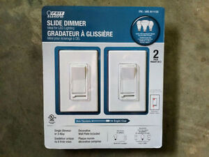 2-PACKS OF DECORA DIMMER SWITCHES --- BRAND NEW!