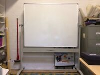Large Whiteboard - flippable & mobile 150cm x 120cm. Very good condition.