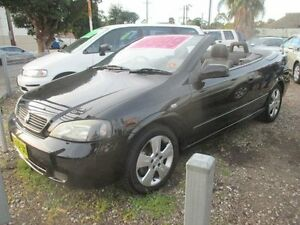 2005 Holden Astra TS Convertible Black 5 Speed Manual Convertible Granville Parramatta Area Preview