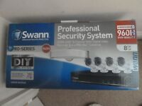 Swann professional security system. 8 channel video recorder and 4 cameras. BNIB