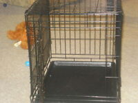 """(TWO) BLACK WIRE CRATE/KENNELS  18"""" W x 18"""" H x 24"""" LONG"""