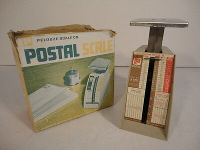 Vintage 1974 Pelouze 2 Lb. Postal Scale Model P2 With Box Hd12