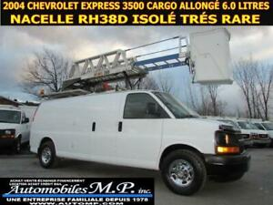 2004 Chevrolet Express 3500 CARGO ALLONGÉ NACELLE RH 38D ISOLE