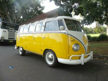 1958 Volkswagen Kombi SAMBA 23 windows Yellow Manual Bus