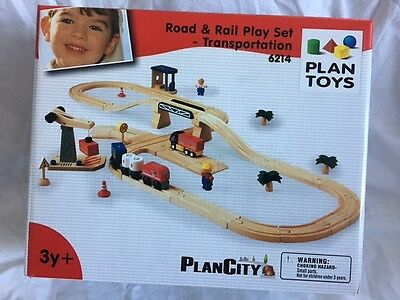 Rail Transportation Set - PlanToys Road & Rail Play Set - Transportation - 6214
