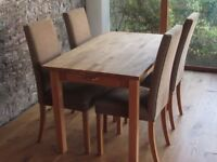 Habitat Table and 4 M & S Chairs