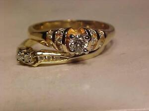 #3130-14K Y/W/Gold W/SET-JUST APPRAISED for $3,150.00-Size 8 7/8-.73ct. BRILLIANT CUT DIAMONDS-WILL ACCEPT EBANK TRANSFR
