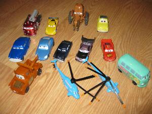 various Disney Cars character toys