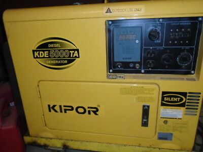 Kipor Diesel Generator Kde5000e Key Electric Start Quiet 5000 Watt Power