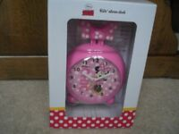 MINNIE MOUSE ALARM CLOCK - BRAND NEW UNOPENED BOX, battery included