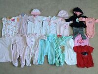 0-3 & 3 Month Clothes - Girls Lot