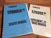 Genuine Yamaha Thundercat (YZF600R) service manual + supplementary edition