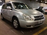 2007 KIA SEDONA 2.9 CRDI GS DIESEL MANUAL NEW MOT MPV 7 SEATER FAMILY CAR STRONG TOWBAR NOT GALAXY