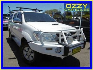 2010 Toyota Hilux KUN26R 09 Upgrade SR5 (4x4) White 4 Speed Automatic Dual Cab Pick-up Penrith Penrith Area Preview